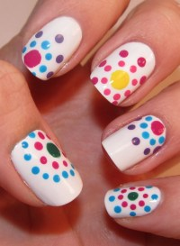 Funky Colorful Nail Art Ideas 2012.