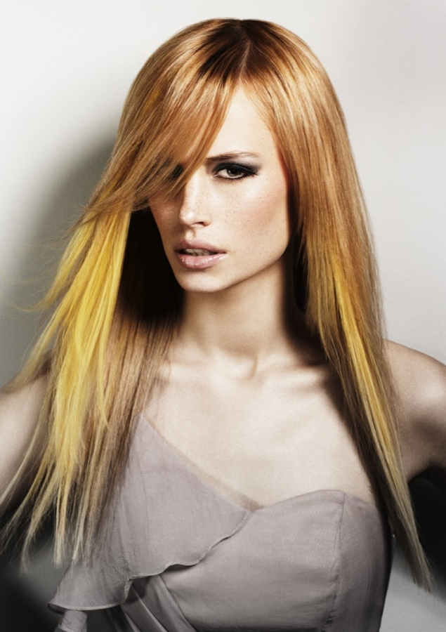Medium Hairstyle And Color Vibrant Hair Color Ideas 2012