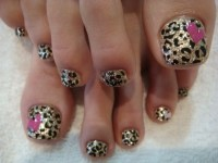Leopard Toe Nail Designs@^*