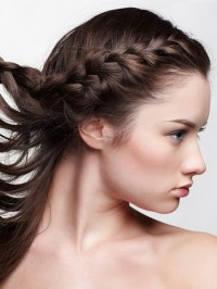 Pictures : Hairstyles for Growing Out Bangs - Side Braid ...
