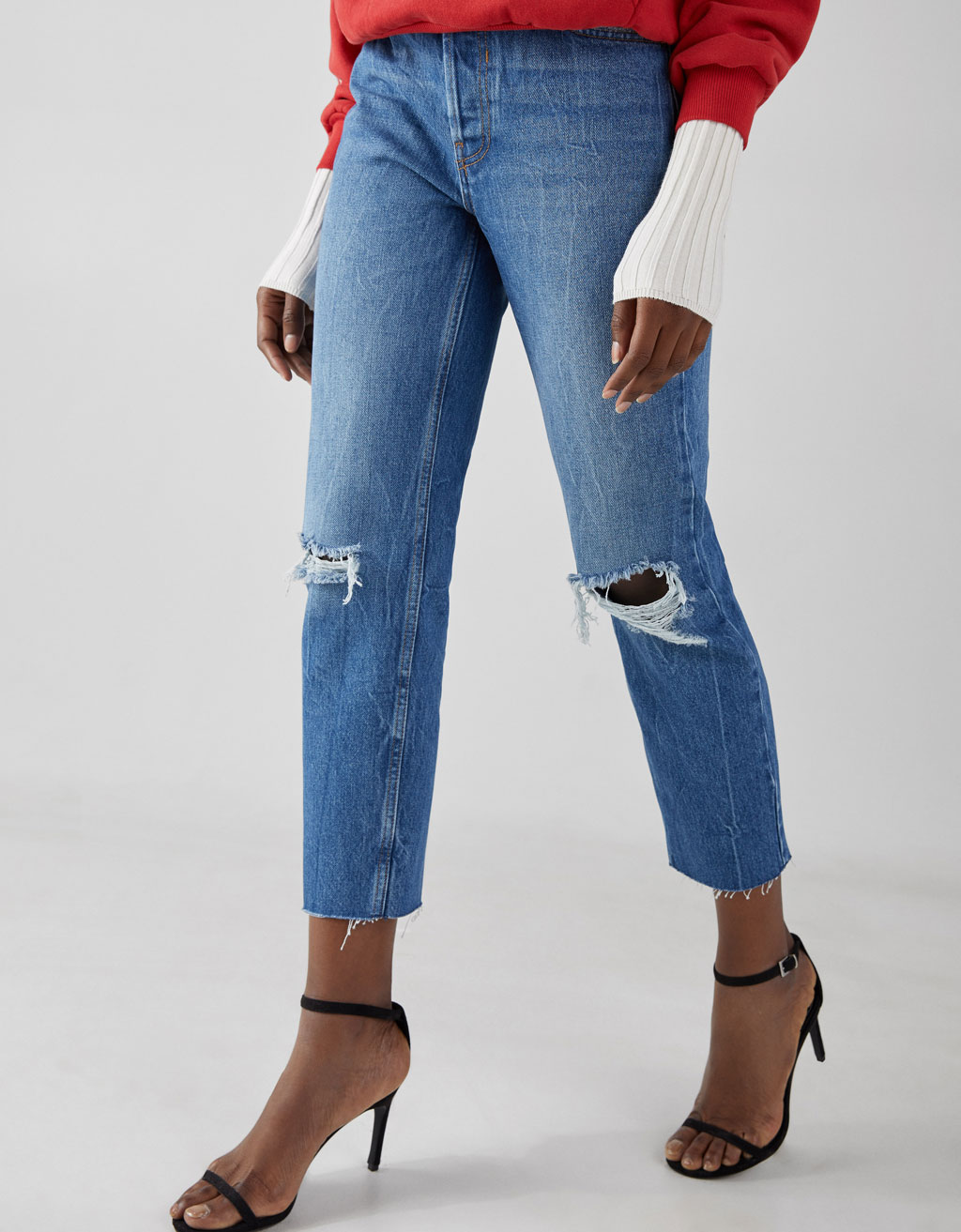 Jeans Coupe Droite Jean Coupe Droite Cropped