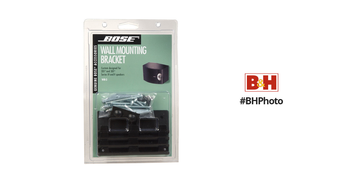 Bose WB-3 Bookshelf Speaker Wall Brackets 18423 BH Photo Video