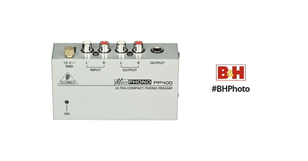 Behringer PP400 Ultra-Compact Phono Preamplifier PP400 BH Photo