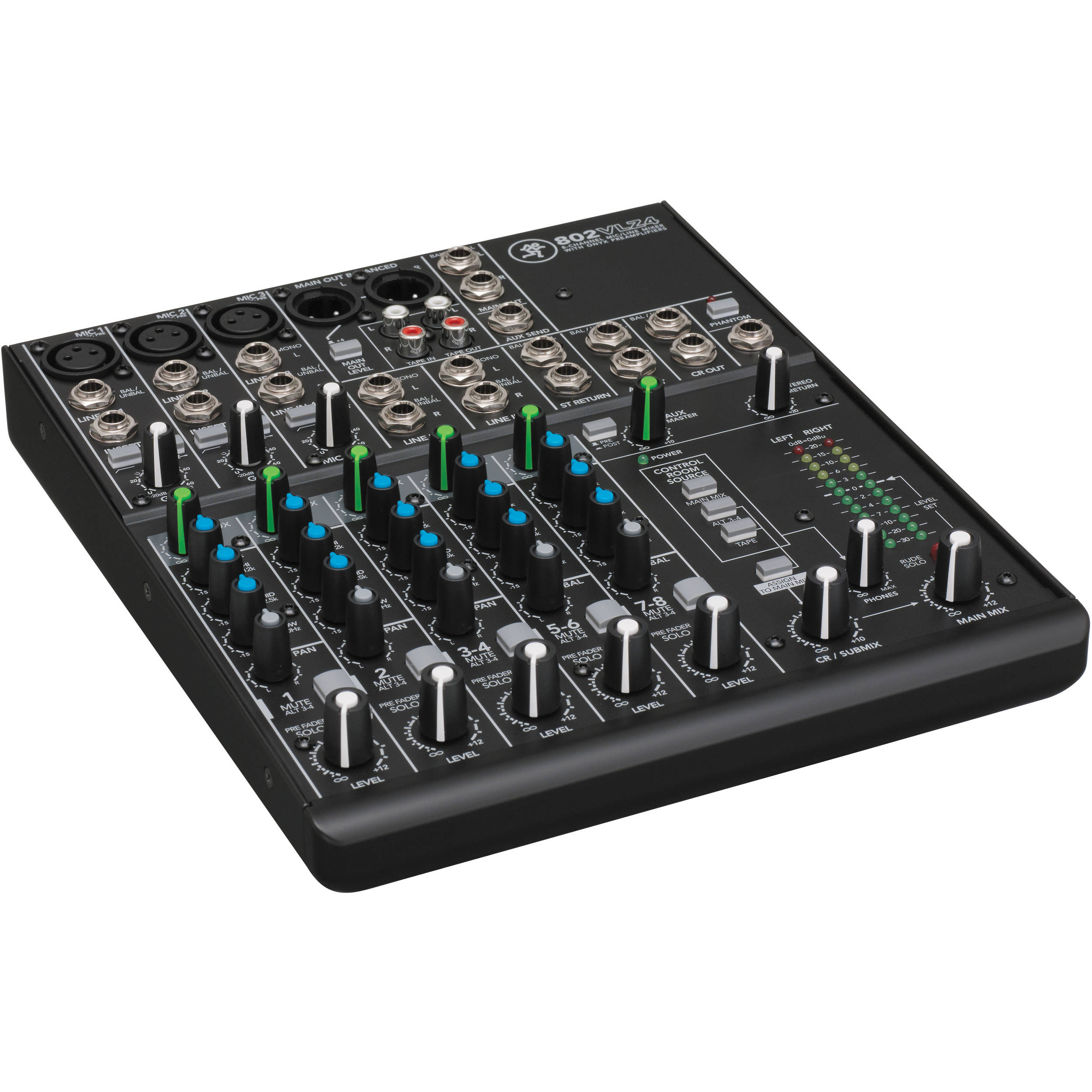 Jb Lighting Micro Plus Mackie 802vlz4 8 Channel Ultra Compact Mixer