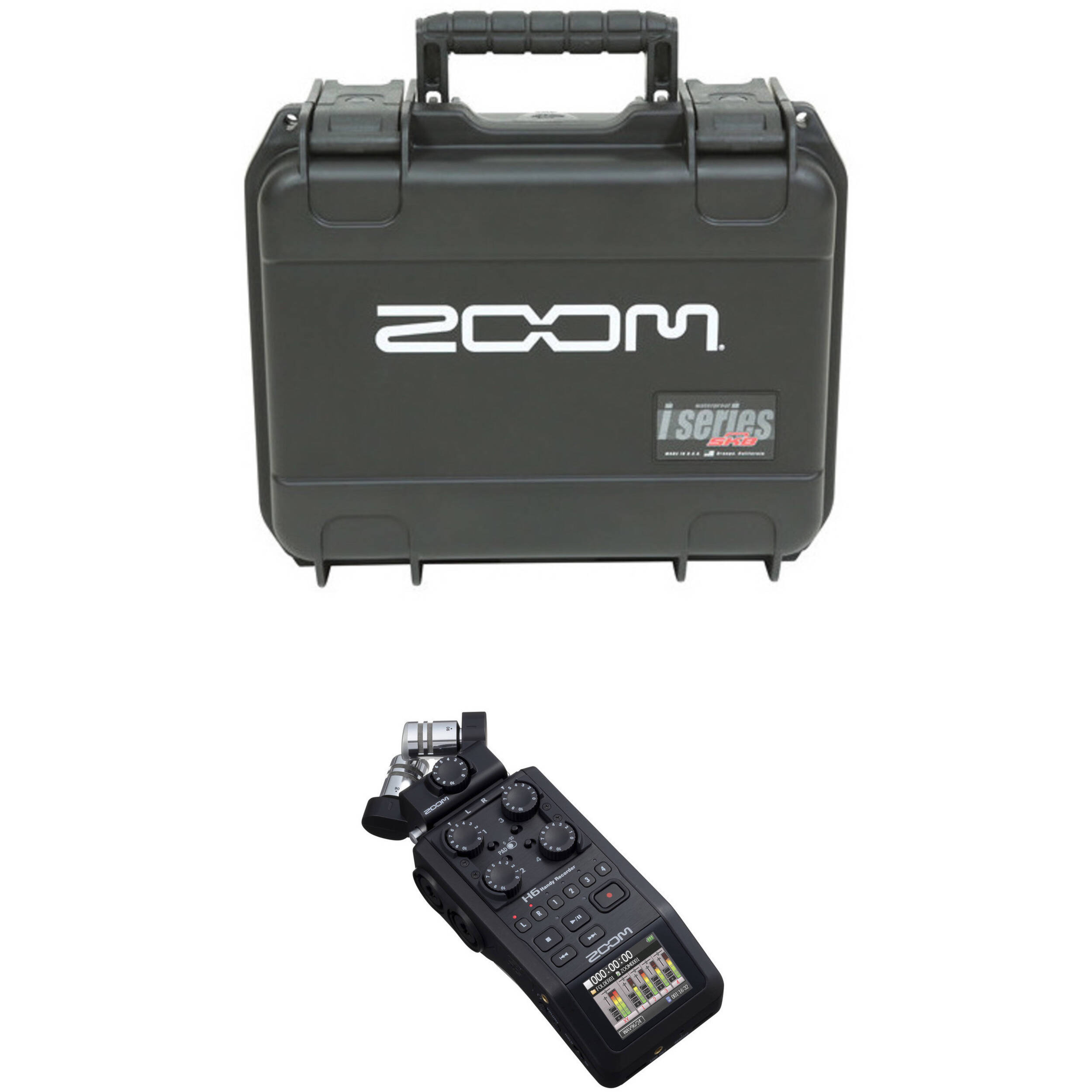 Zoom H6 Recorder Zoom H6 Handy Recorder With Interchangeable Microphone System And Waterproof Case For H6 Recorder And Mic Modules Kit