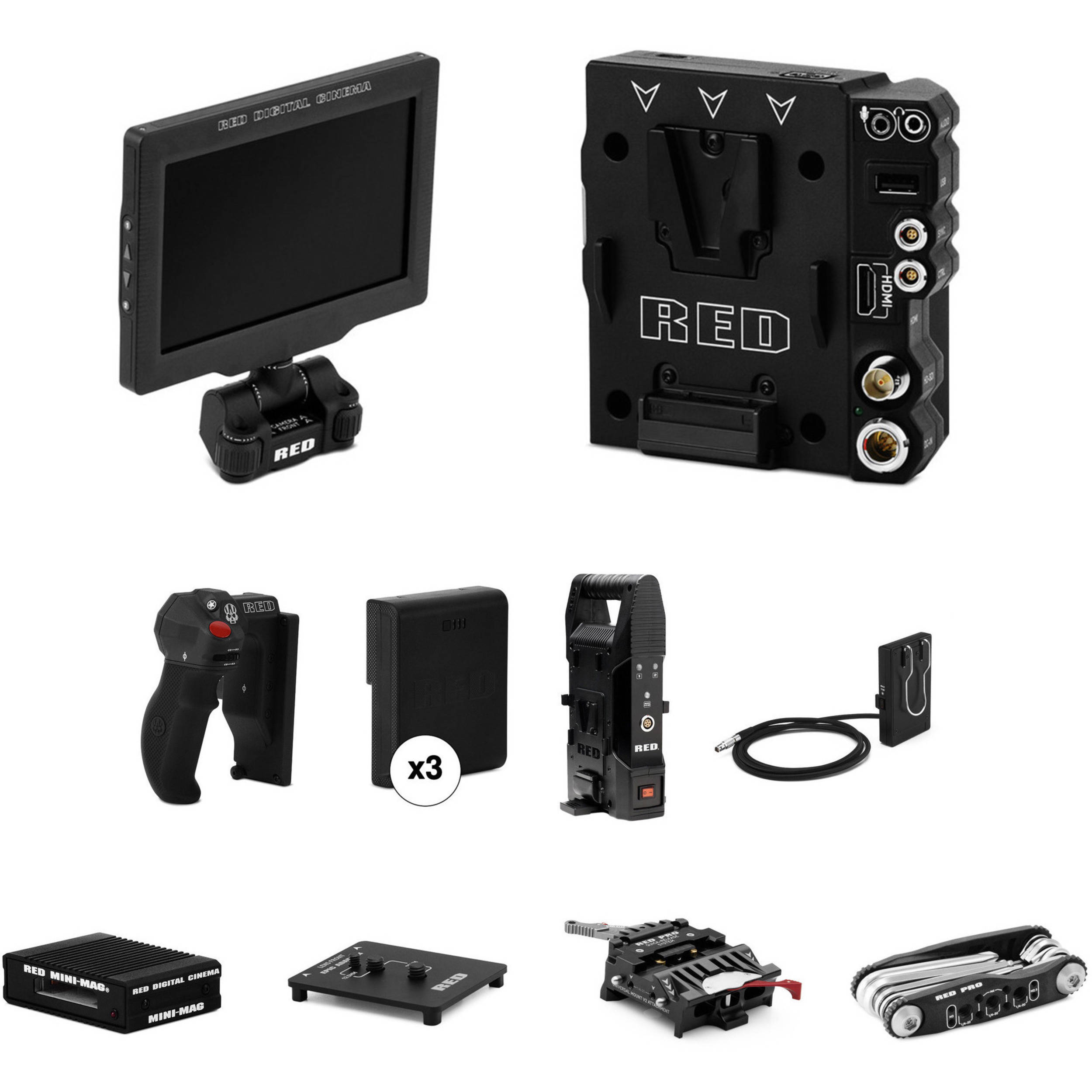 Red Raven Specs Red Digital Cinema Dsmc2 Handheld Accessory Package