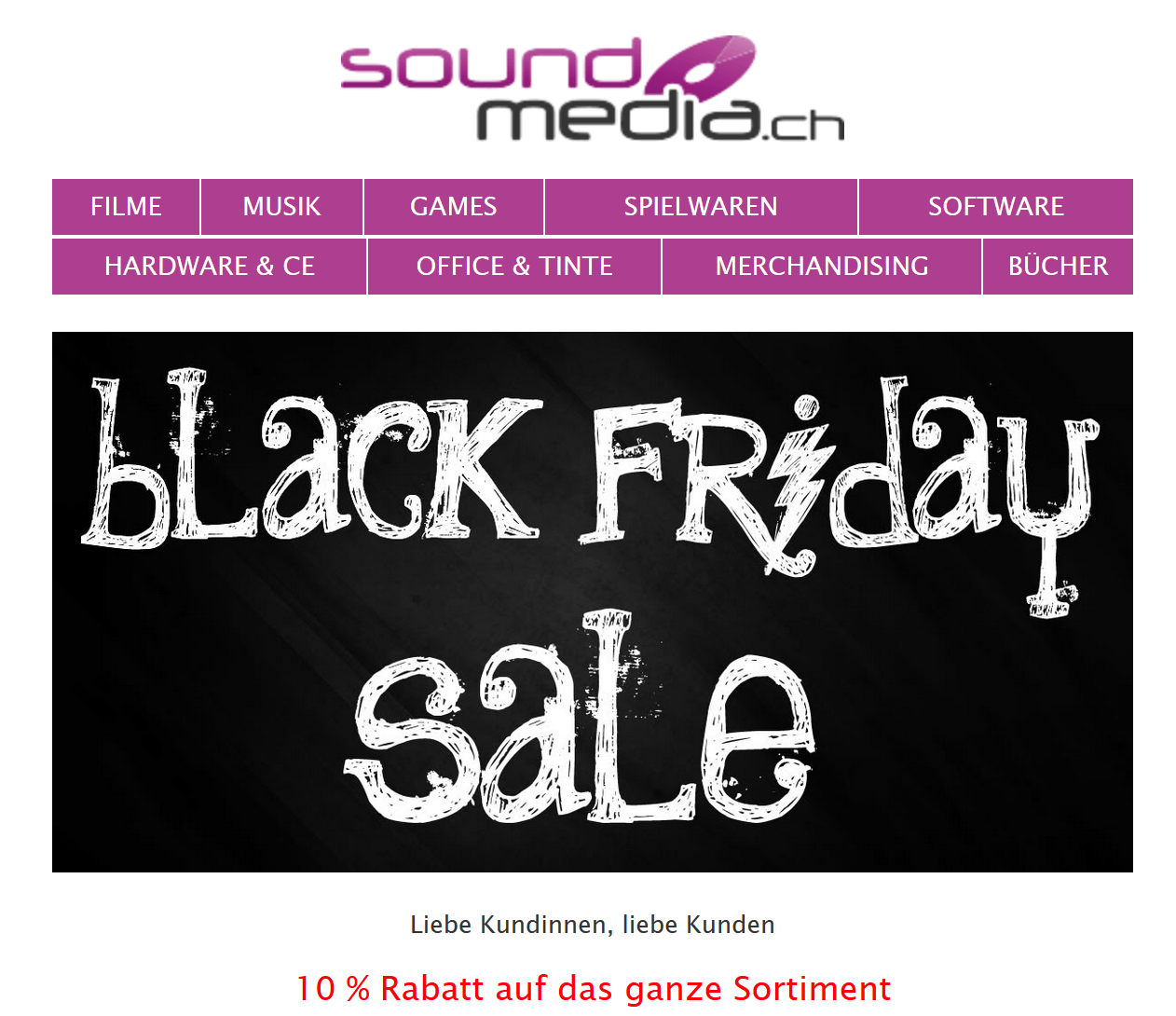 Black Friday Angebot Alle Soundmedia Angebote Zum Black Friday Und Cyber Monday