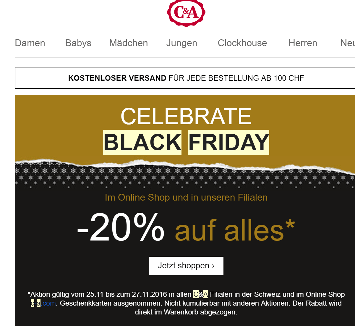 Black Friday Angebot C A Black Friday 2019 Alle Angebote Alle Gutscheincodes