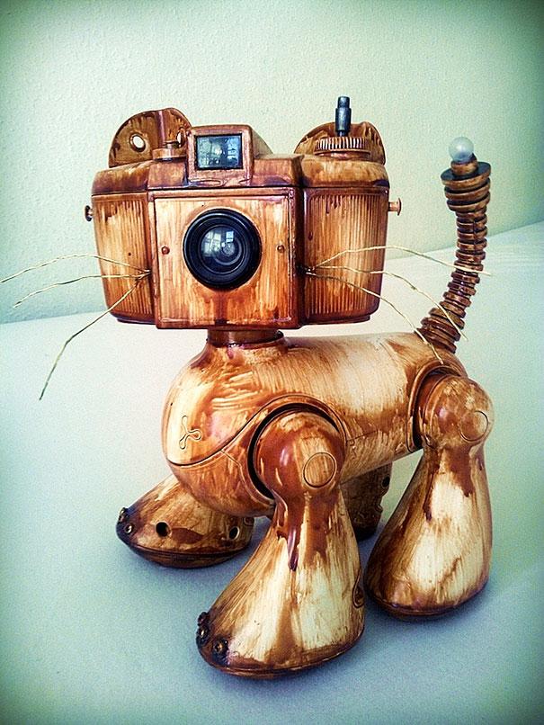Cute Little Girl Wallpaper Download I Make Robots Out Of Rubbish Bored Panda