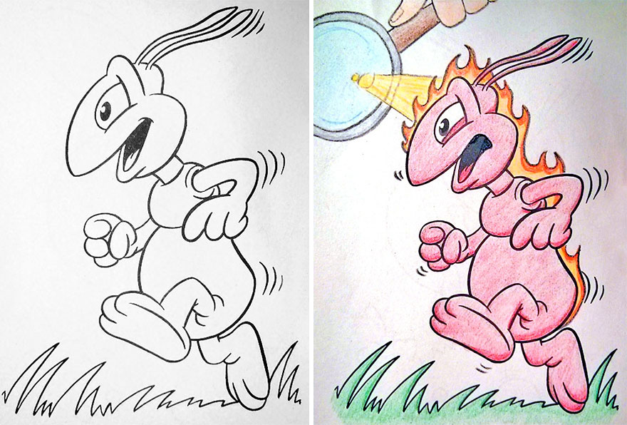 Coloring Book Corruptions See What Happens When Adults Do Coloring