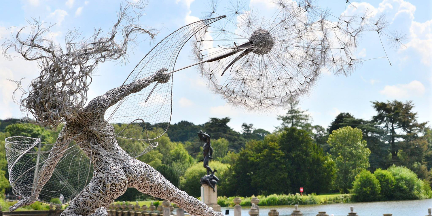 Faerie Statues Dramatic Fairy Sculptures Dancing With Dandelions By Robin Wight