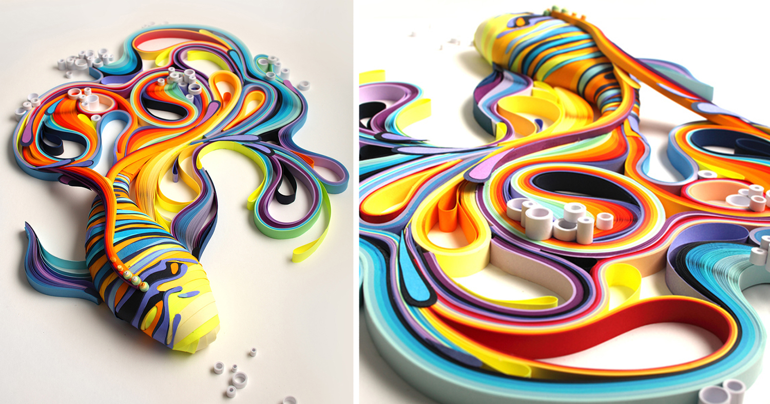 Buntes Papier Mesmerizing Paper Art Made From Strips Of Colored Paper By
