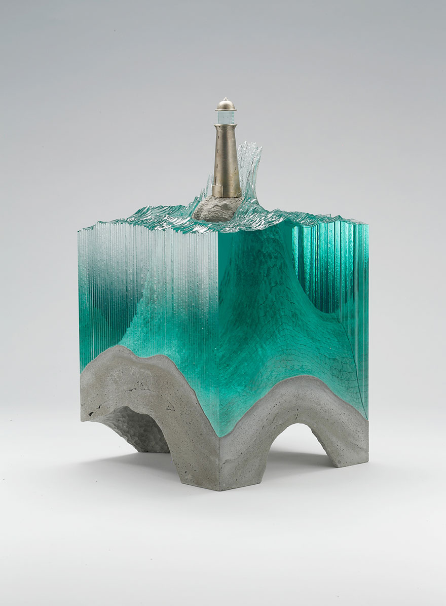 Ben Young Sculptures The Beauty Of The Sea In New Layered Glass Sculptures By Ben Young