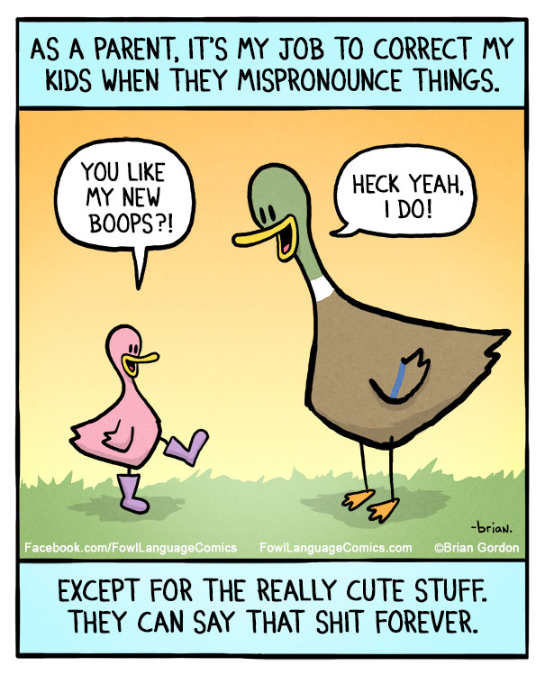 Duck Copes With Everyday Life And Kids One Cartoon At A Time Bored