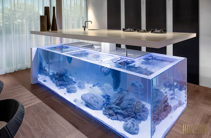Keuken Design App This Kitchen Island Is Also A Giant Aquarium | Bored Panda