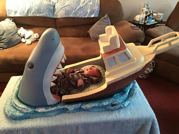 Uncle Makes Jaws-inspired Crib For His 2-month-old Nephew