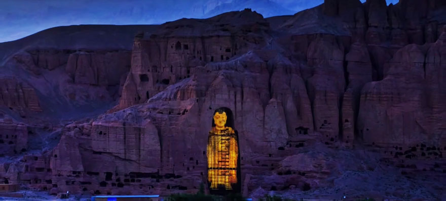 3d Holograms Wallpaper Buddhas Detroyed By Taliban Resurrected As Holograms