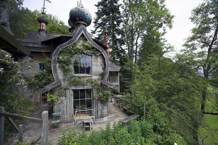 Fairy Tale House In Norvegian Woods