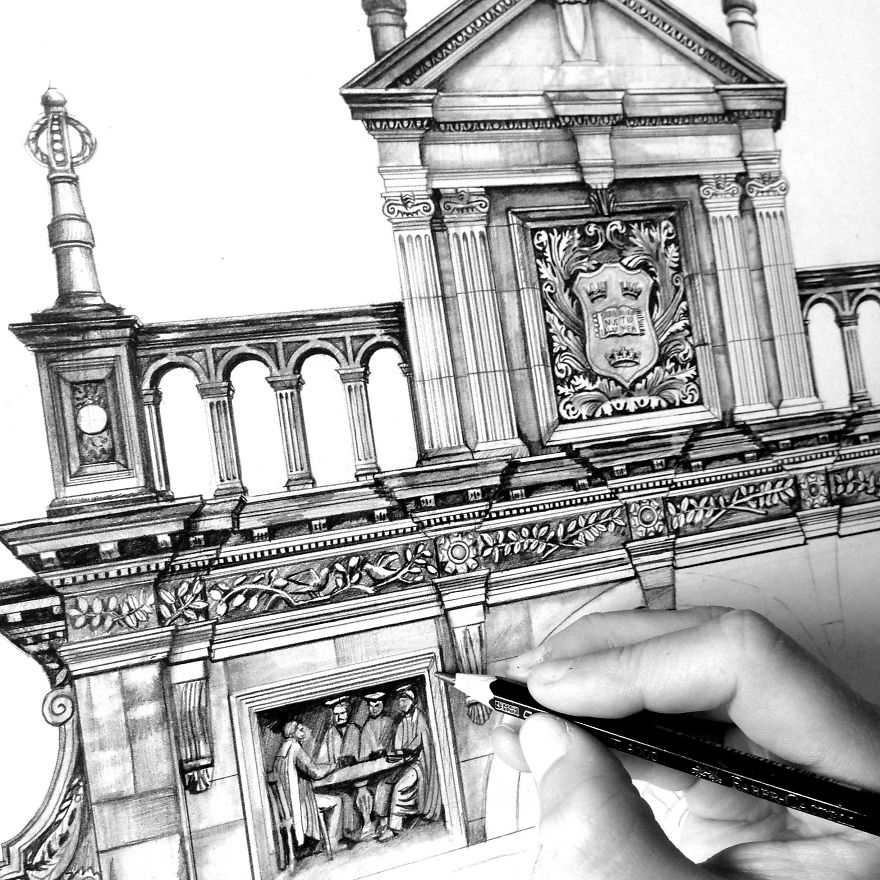 Design Is In The Details My Photorealistic Drawings Of Famous