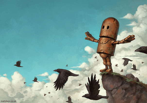 Animated Lonely Boy Wallpapers My Lonely Robots Experiencing The Quiet Wonder Of The