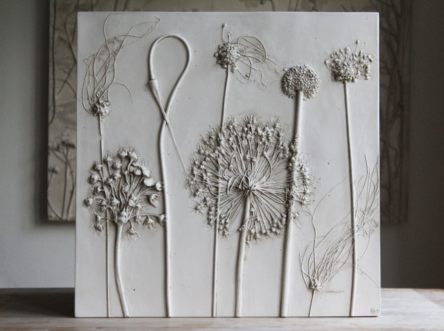 Kreative Deko Artist Creates Flower Fossils By Casting Plants In Plaster