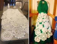 Bride Spends 8 Months Crocheting Her Own $70 Wedding Dress ...