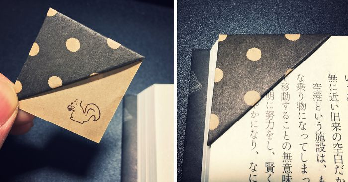 Simple Trick To Make Your Own Origami Bookmarks Bored Panda