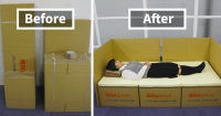 Boxes Into Beds: Brilliant Idea Helps Earthquake Victims ...