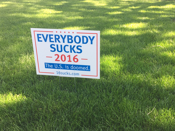 33 Funny Voting Signs Express What People Really Think About These