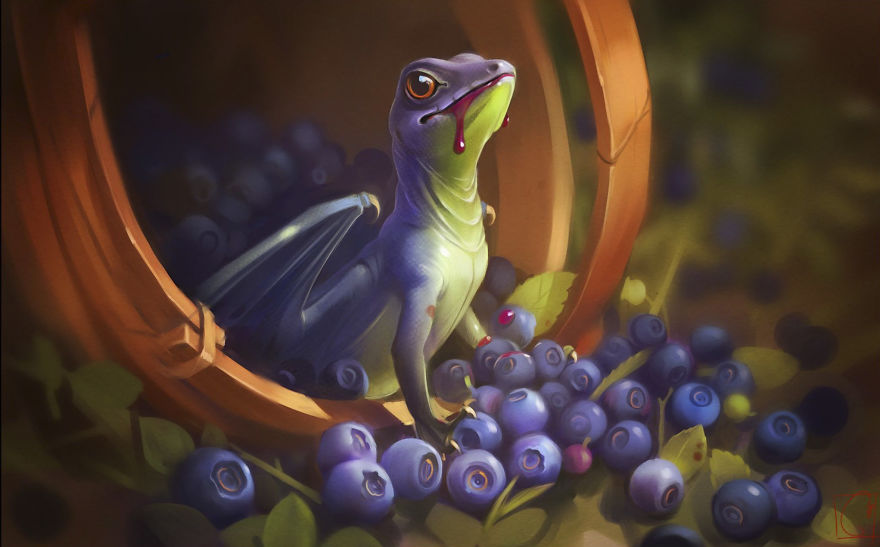 Best Wallpaper App For Iphone 2016 Fruit Dragons By Russian Artist Alexandra Khitrova Bored