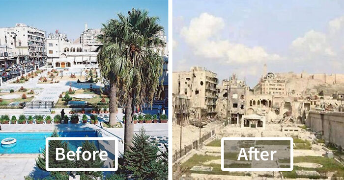 Image result for aleppo before and after