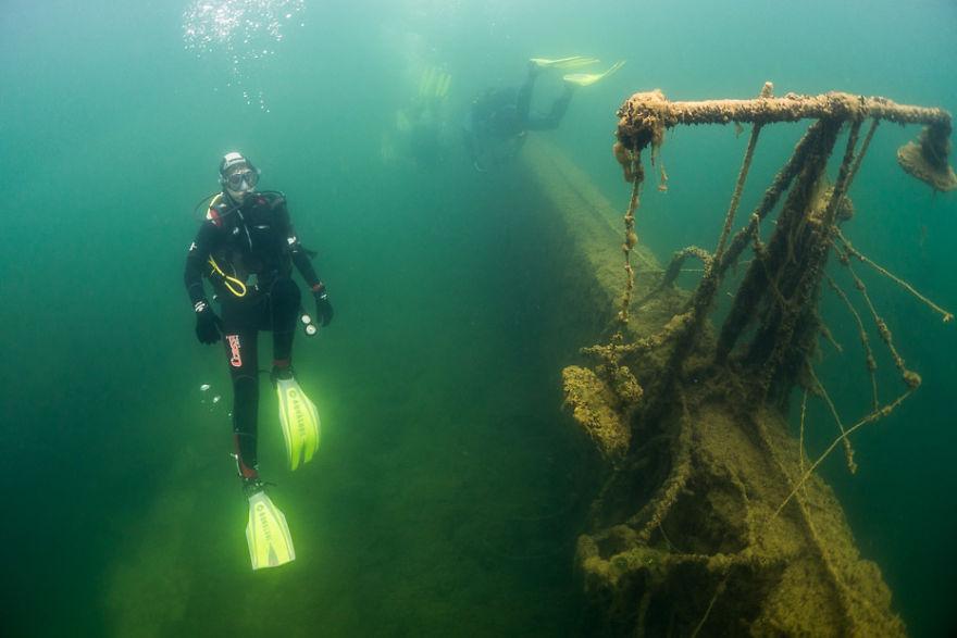 how we went diving in underwater prison in rummu estonia