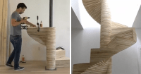 DIY Spiral Staircase Made Out Of Plywood | Bored Panda