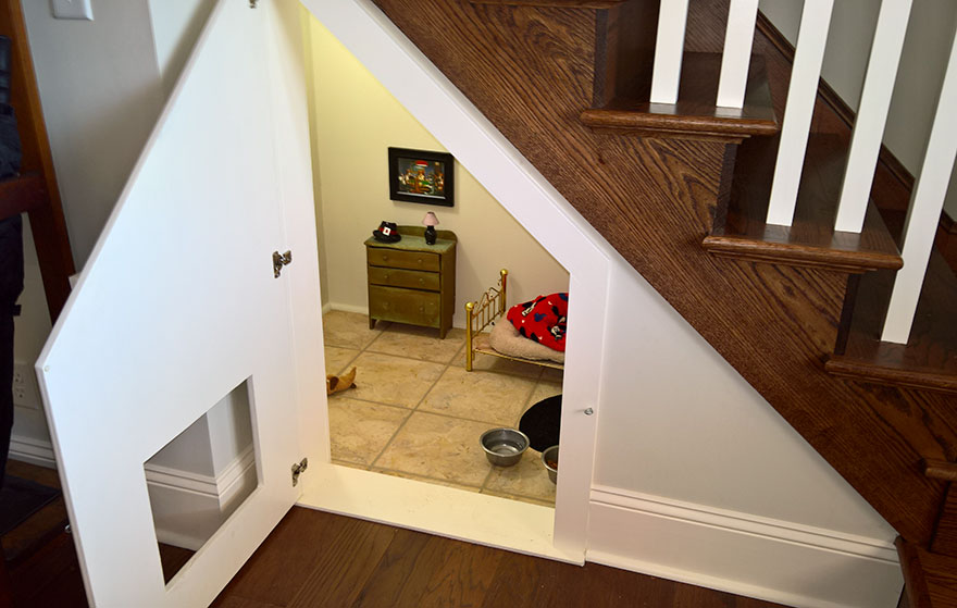 This Woman Built Her Dog A Bedroom Under The Stairs And