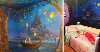 I Painted A Disney Tangled Mural In My Daughters Room ...