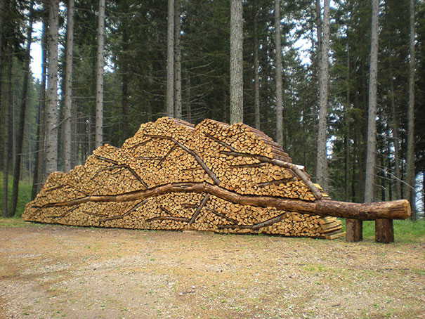 10 People Who Turned Log Piling Into An Art Form Bored