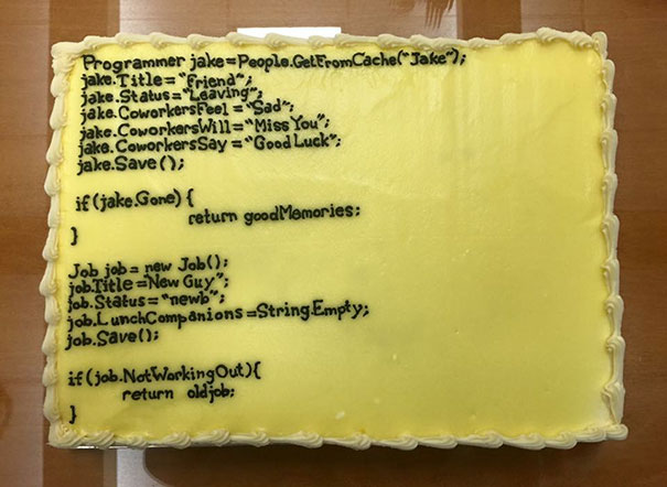 15+ Hilarious Farewell Cakes That Employees Got On Their Last Day At