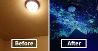 how to paint a galaxy ceiling | www.Gradschoolfairs.com