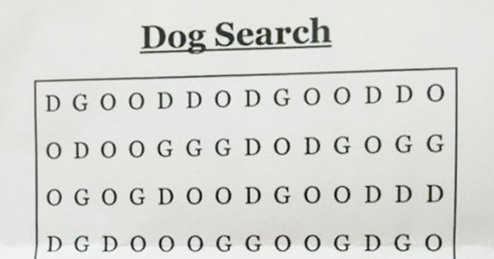 Can You Solve \u0027The Hardest Word Search Ever\u0027 And Find The \u201cDOG