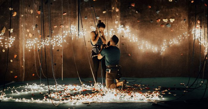 Rose Petals Falling Wallpaper Rock Climber Proposes To His Girlfriend In The Most