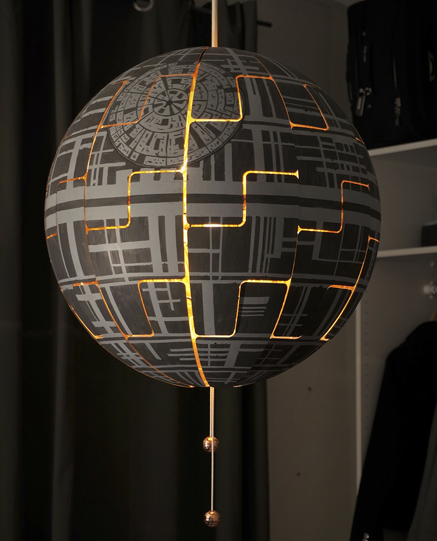 Ikea Luminaire I Turned Ikea Lamp Into A Death Star Bored Panda
