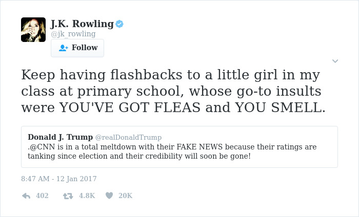 10+ Times J K Rowling Brutally Destroyed Internet Trolls Bored Panda