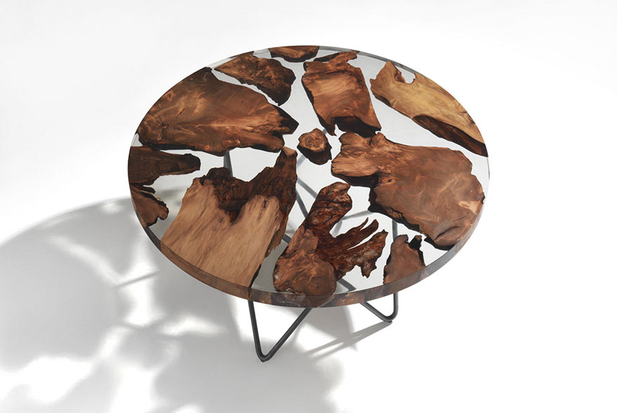 Resin Gießharz Amazing Resin Table Made From 50,000-year-old Wood | Bored