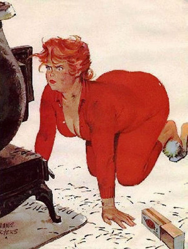 Vintage Pin Up Girl Wallpaper 10 Sexy Illustrations Of Hilda The Forgotten Plus Size
