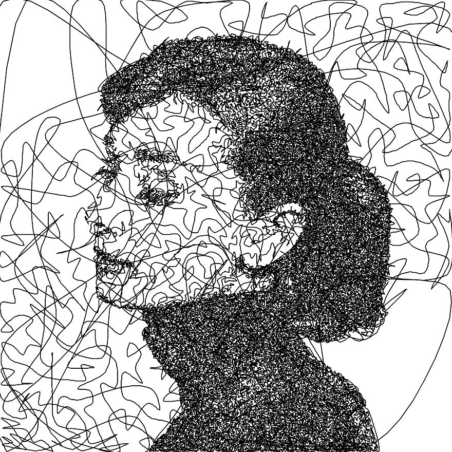 I Wrote An Algorithm That Doodles Drawings From A Single Line