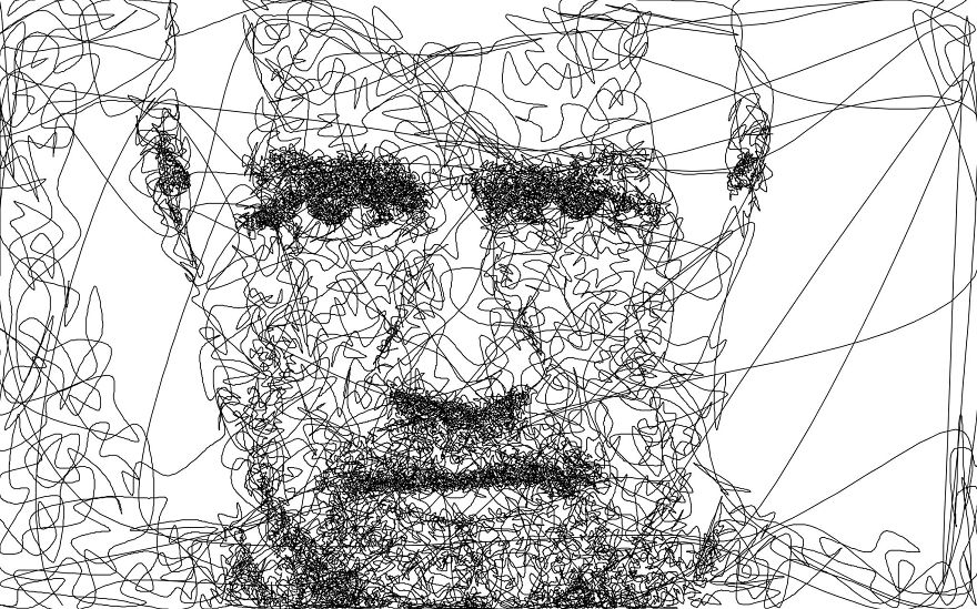I Wrote An Algorithm That Doodles Drawings From A Single Line - line drawing
