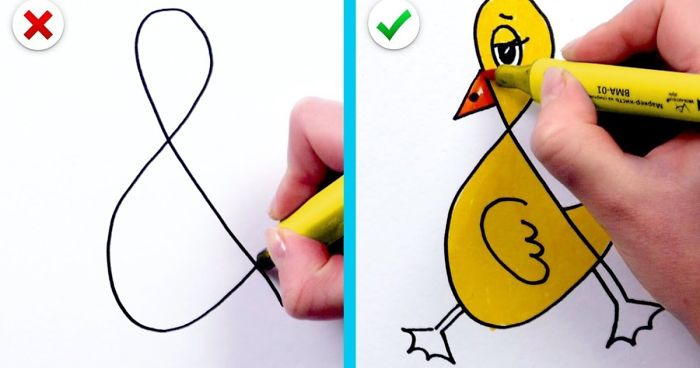 21 Fun And Simple Drawing Tricks Easy Tips On How To Draw And