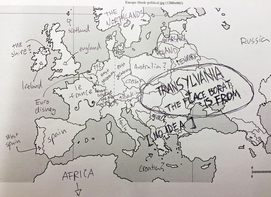 Americans Were Asked To Place European Countries On A Map Here\u0027s - best of locate places on world map game