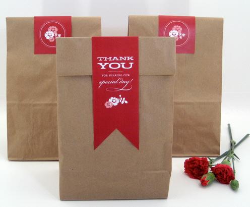 DIY Download Paper Bag Favor Labels by Flights of Fancy - Bridal