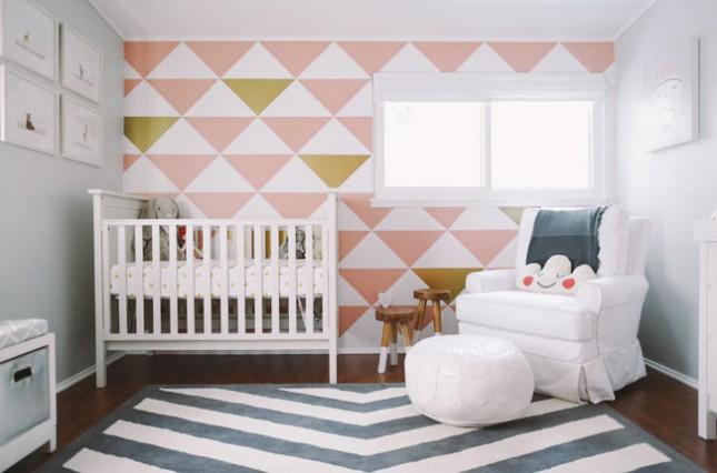 Teenage Girl Room White And Gold Polka Dot Wallpaper 25 Creative And Modern Nursery Design Ideas Brit Co